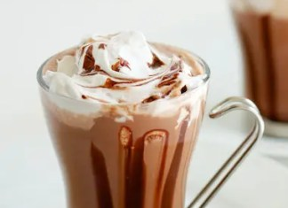 Recipe for Hot Chocolate with Coconut Whipped Cream