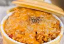 Recipe for Cheesy Arroz con Pollo - Mexican Chicken and Rice