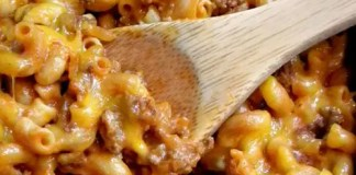 This tasty, cheesy, crazy good chili mac is so good your belly will say oh thank you, thank you (so will your family!). This one pan meal is ready in under an hour and there's almost no clean up.