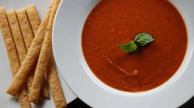 Creamy Tomato Soup and Cheese Straws Recipe - It always happens this time of the year that I crave a nice bowl of soup.  Tomato soup is one of my favorites and I usually like a grilled cheese sandwich with it, but this time I decided to make cheese straws.