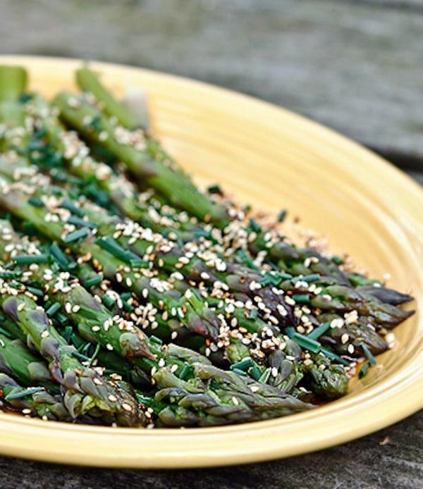 Recipe for Asparagus Salad with Lemon Soy Vinaigrette