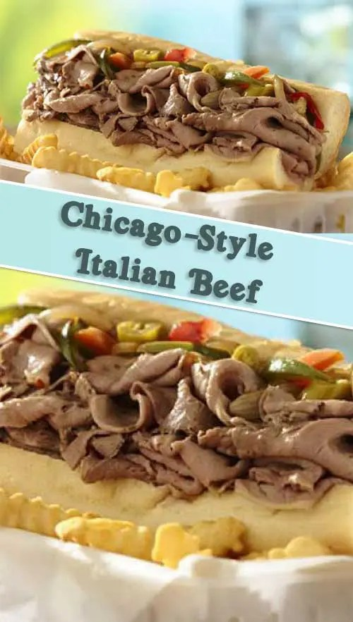 What is it about a savory, juicy sandwich that hits all the notes for us? ThisSlow Cooker Chicago-Style Italian Beef would make a perfect weeknight dinner. #slowcooker #sandwiches #beef