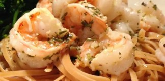Recipe for White Wine Lemon and Herb Shrimp
