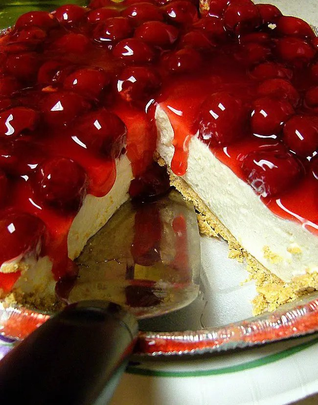 Cherry-Berry Low Fat Fake Cheesecake