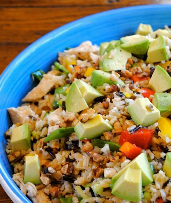 Avocado-Chicken and Rice Bake