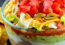Recipe for 7-layer Party Dip