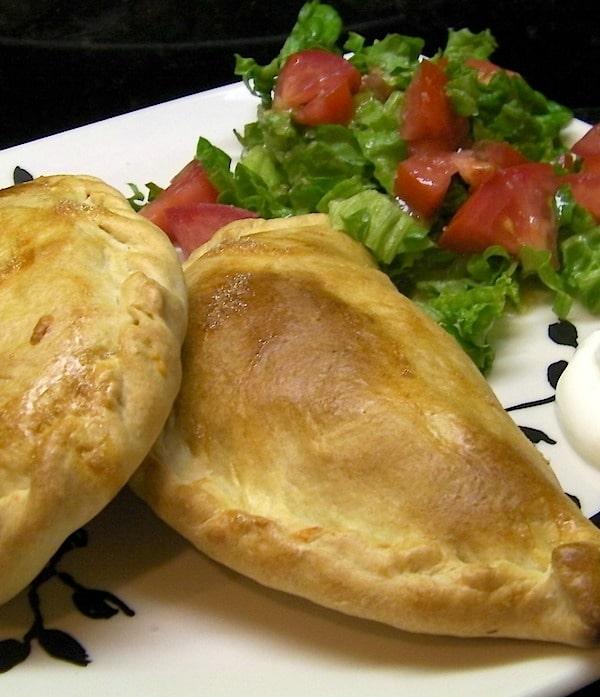 Baked Chicken Bean and Cheese Empanadas