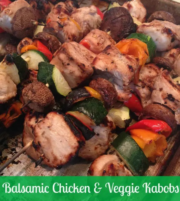 Balsamic Chicken and Veggie Kabobs