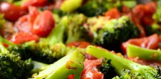 Recipe for Roasted Broccoli and Tomato Salad
