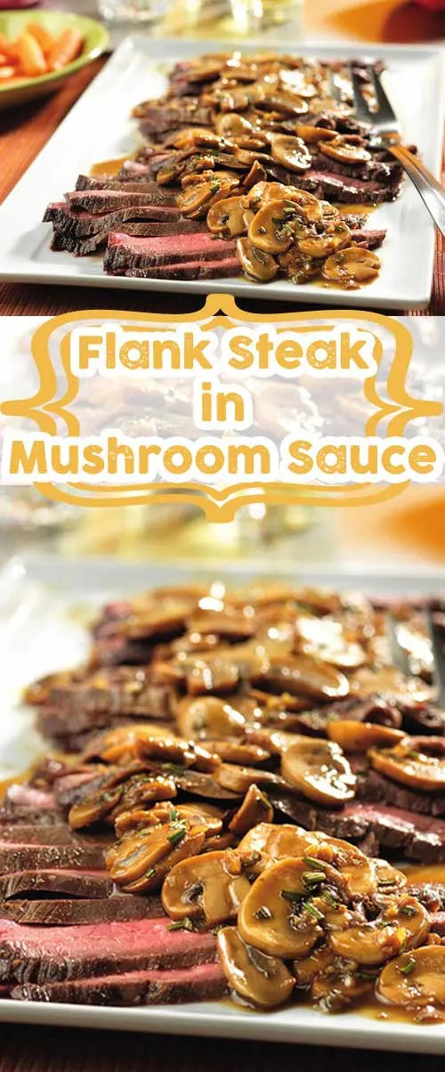 Recipe for Flank Steak with Mushroom Sauce - This skillet recipe is a simple and delicious way to prepare flank steak...and the flavorful sauce is absolutely divine!