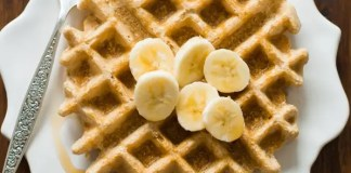 This healthy and delicious Peanut Butter Waffles recipe is made with a few simple ingredients and comes out perfect every time. Enjoy!