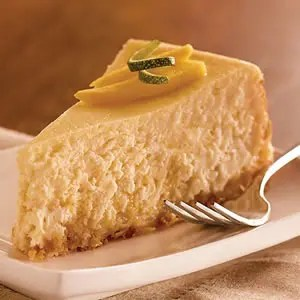 Tropical Breeze Mango-Coconut Cheesecake