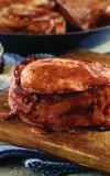 Bacon Pork Chops with BBQ Glaze