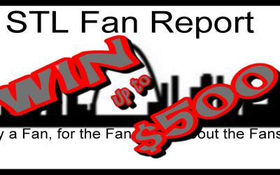 """Win up to $500 USD gift card in the ST Louis Fan Report Pick """"Em Contest."""
