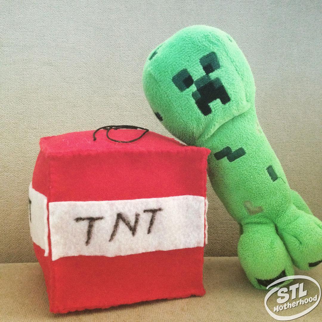 minecraft cube TNT felt