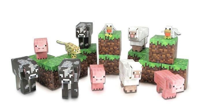 minecraft paper toys