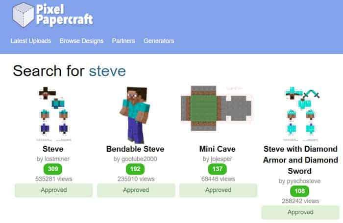 minecraft pixel craft paper