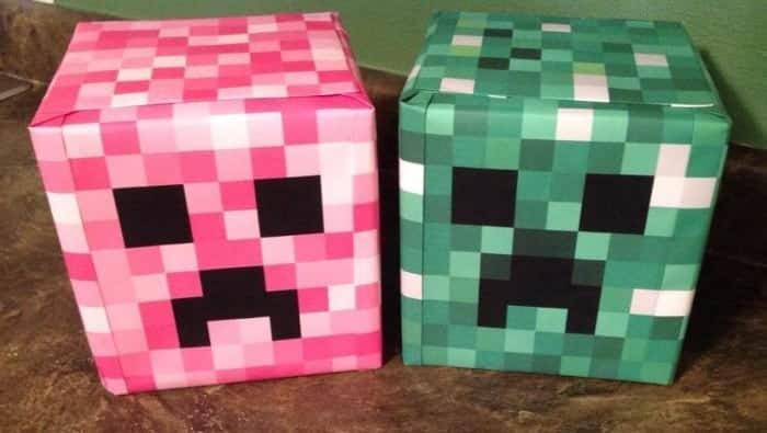 Pink Minecraft Creeper, by Cindy Schanz