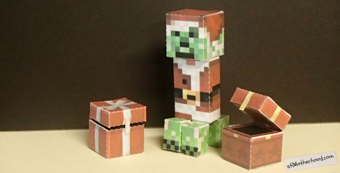 Minecraft Christmas Crafts
