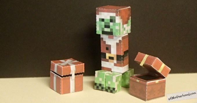 Minecraft Christmas Crafts