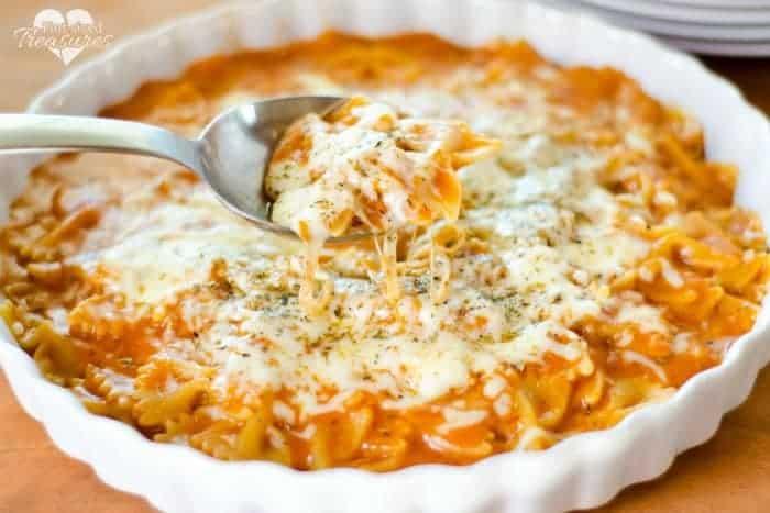 15 Minute Cheesy Italian Pasta Skillet