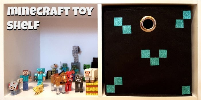 minecraft toy shelf