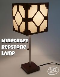 Real Minecraft Redstone Lamp for your Kid's Room