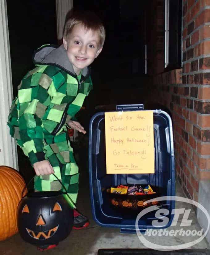 creeper on halloween