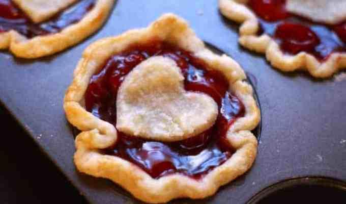 Sweetheart Mini Cherry Pies