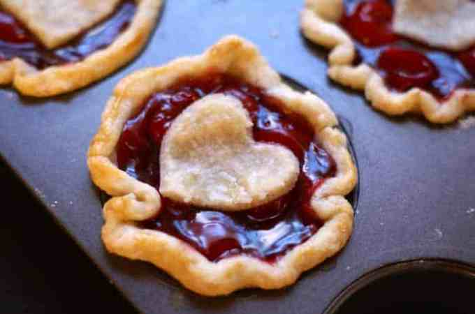 Sweetheart Mini Cherry Pies