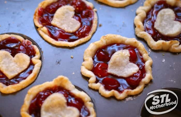 mini cherry pies for your sweetheart