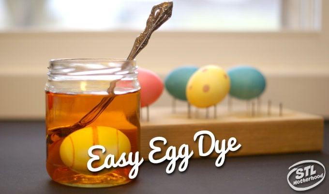 easy dye eggs for Easter
