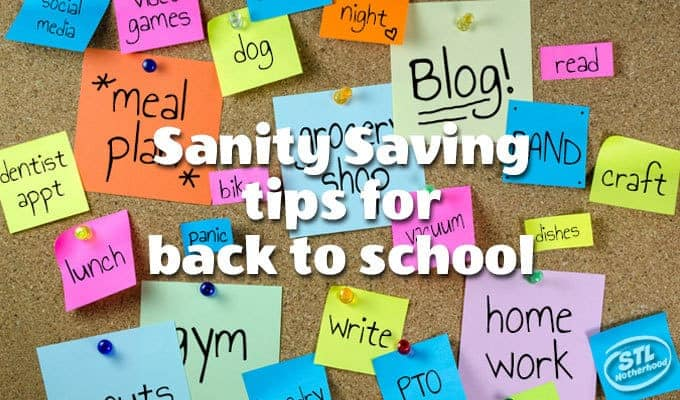Sanity Saving Ideas for School Days