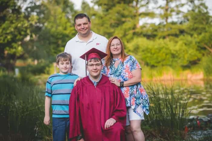 graduation family photo by Danielle Morhaus