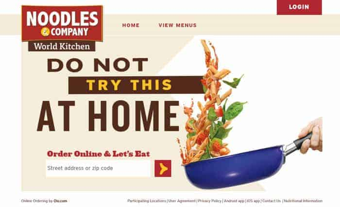 noodles and co online ordering