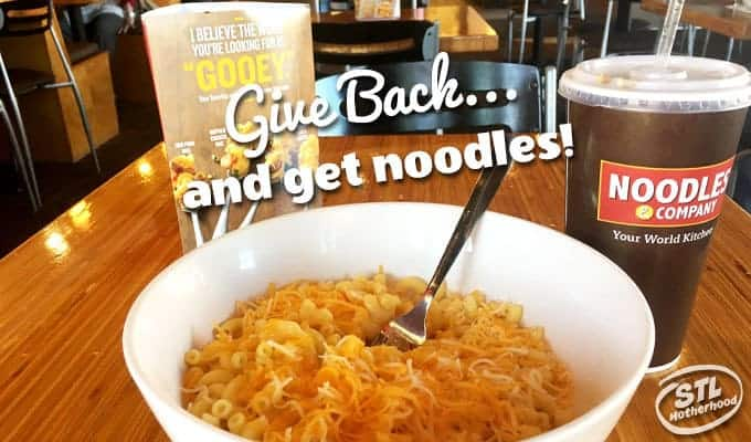 Give Back Friday, with a side of Noodles