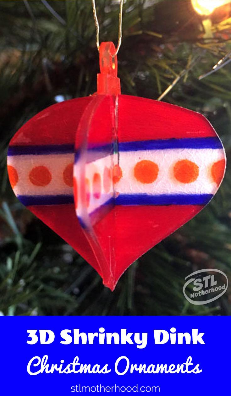 Shrinky Dink Christmas Ornaments