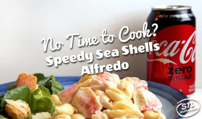 Sea shells Alfredo One Skillet Meal