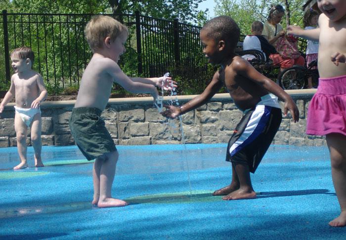 splash pad childrens garden