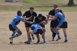Chris 'Vinny' Wroughton running through the defense
