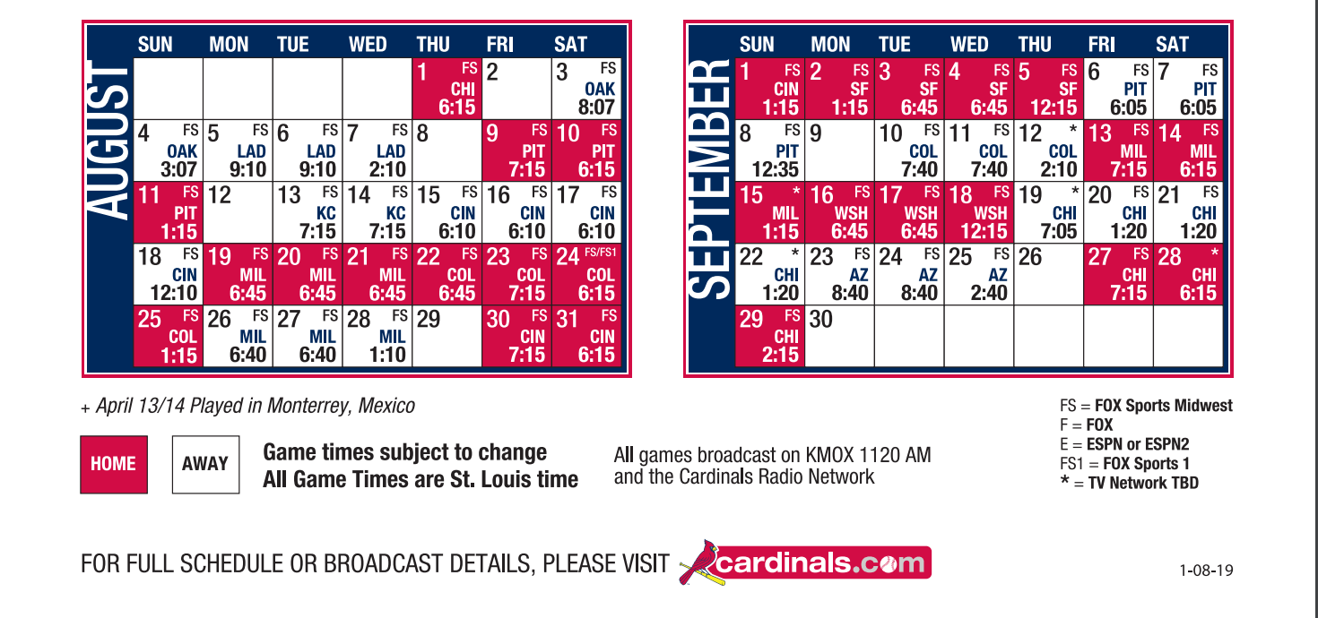 Cards Sched bottom part 2019