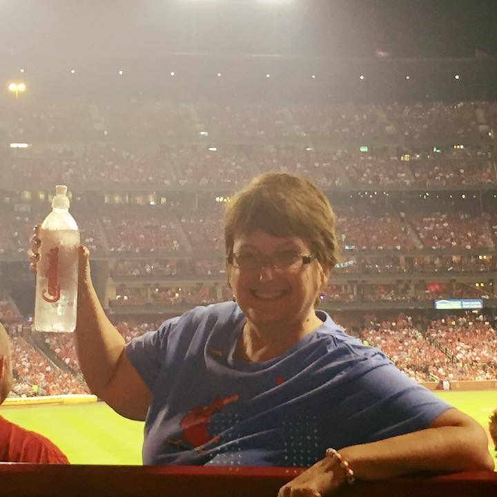 Lisa at ballpark