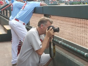 Mark Harrel in the dugout