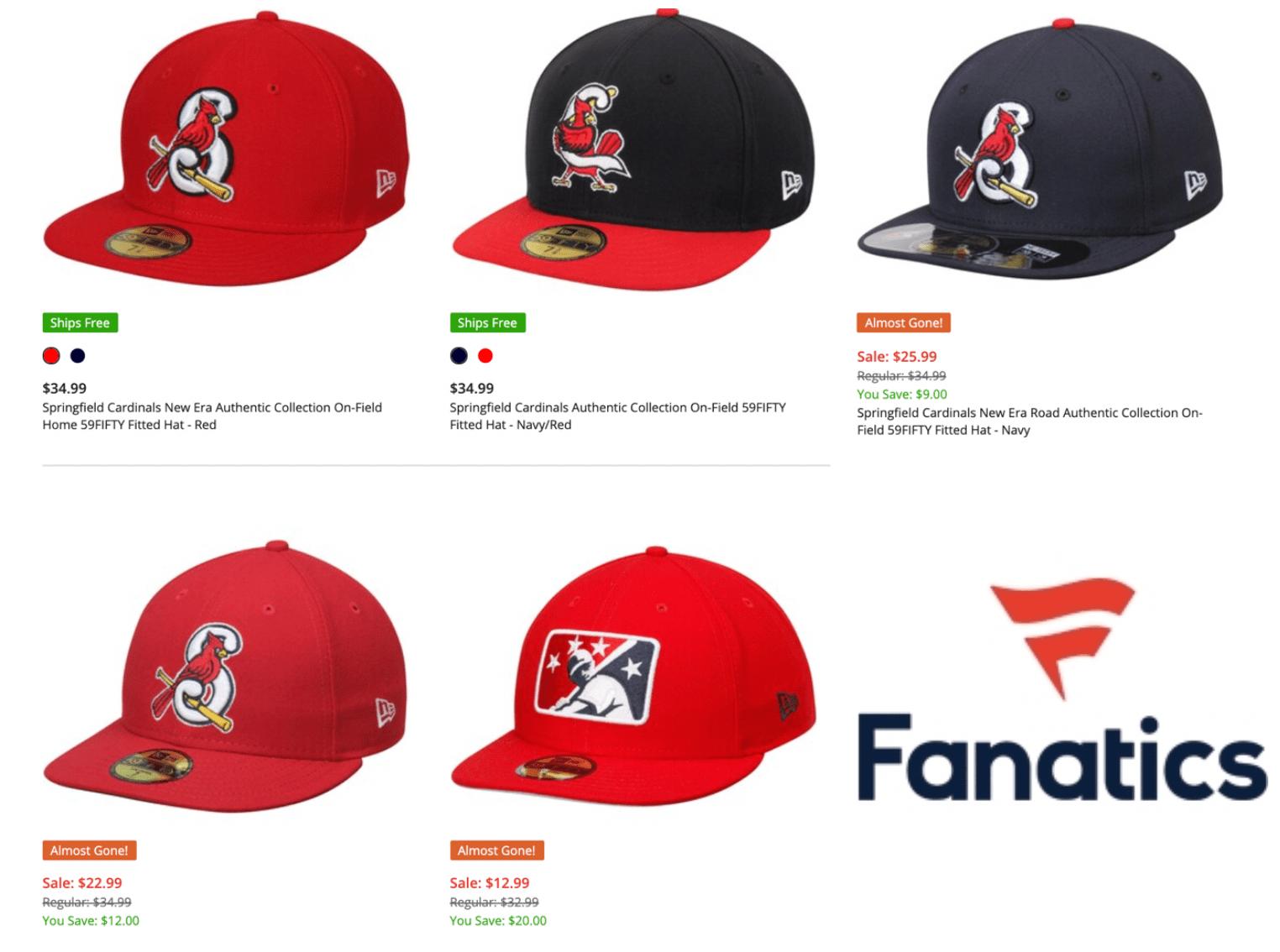 Springfield Cardinals Fanatics ad