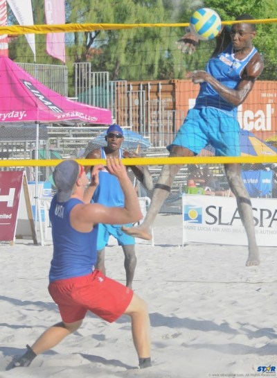 It was historic in nature when St Lucia staged the first ever NORCECA International Beach Volleyball Tournament near the historic and beautiful Pigeon Island National Landmark. The home team (male that is) consisting of Julian Biscette (spiking) and Joseph Clercent did not disappoint placing third overall. It was also a good year on the hard court with the men and ladies winning ECVBA titles.