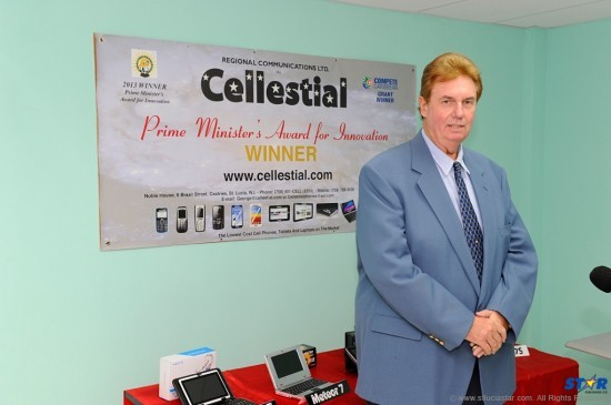 George Benson, Cellestial's Executive Director, poses against his favourite backdrop.
