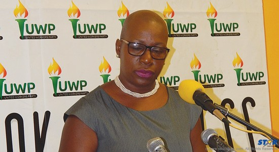 Gail Rigobert on Tuesday accepting her party's recommendation to become the new opposition leader.