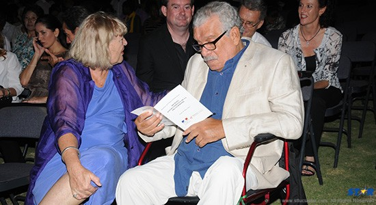 Nobel laureate, Derek Walcott; just one of the guests at the  invitation only event.