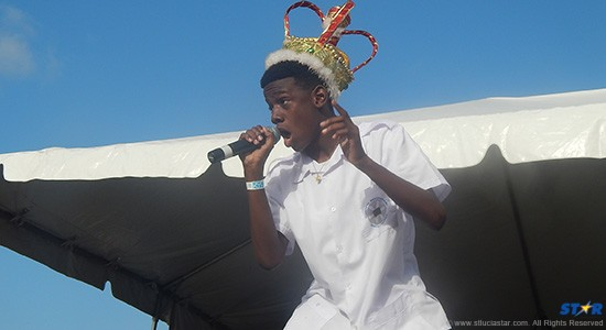 King Lil Nick doing his victory performance.