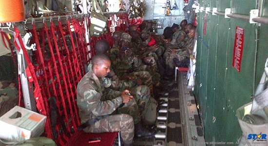 Airborne: Military personel and security forces from the region (minus Saint Lucia) are beng trained in both maritime and land based law enforcement during this year's Exercise Tradewinds.